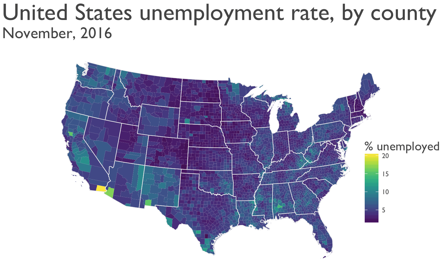 mapping unemployment data 2016