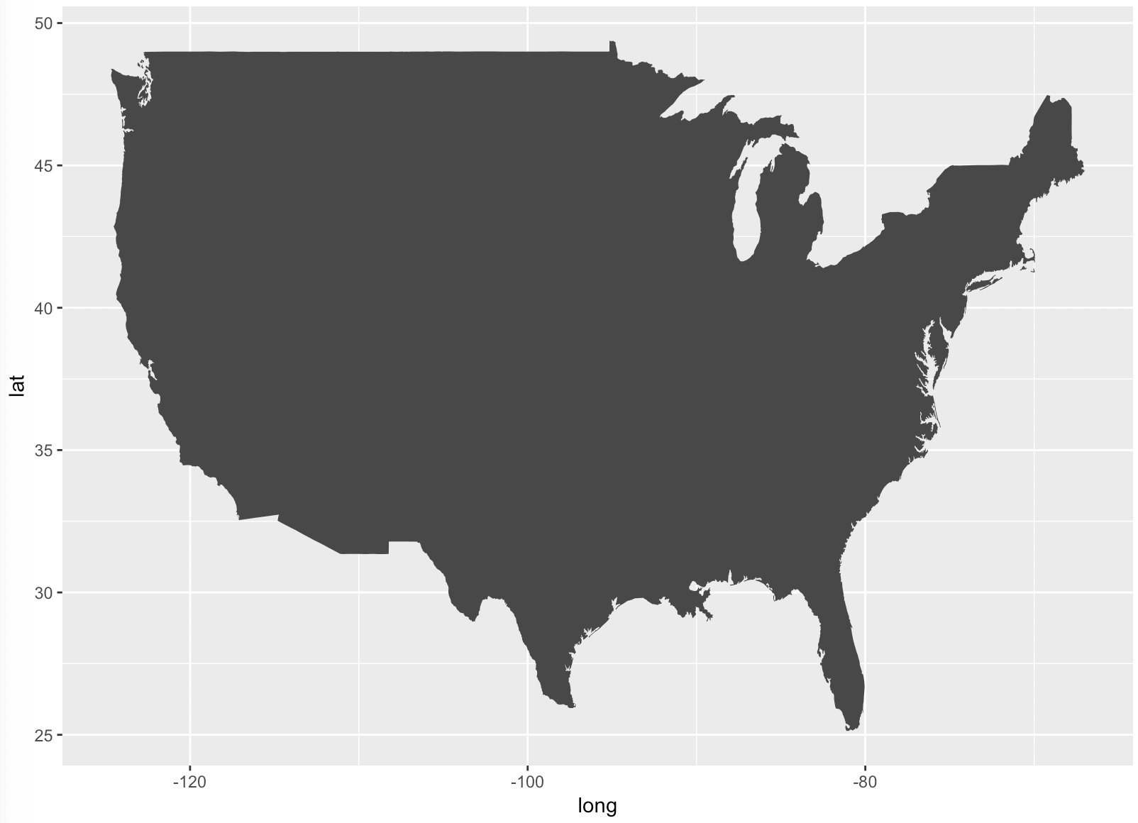 How To Map Geospatial Data USA Rivers Rbloggers - Black and white map of us