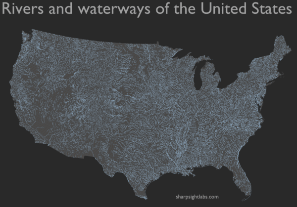 How to map geospatial data: USA rivers