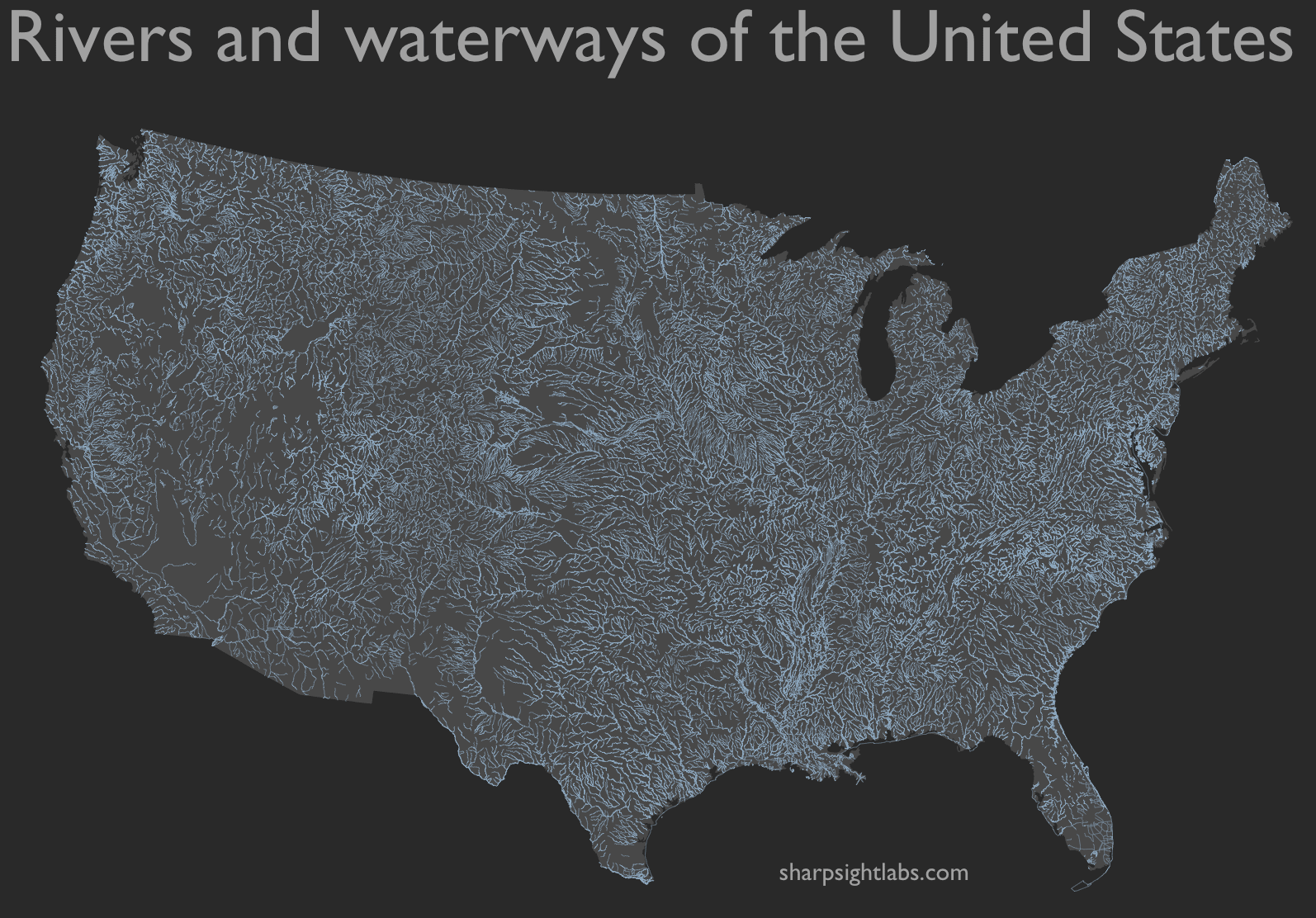 How To Map Geospatial Data Usa Rivers Sharp Sight