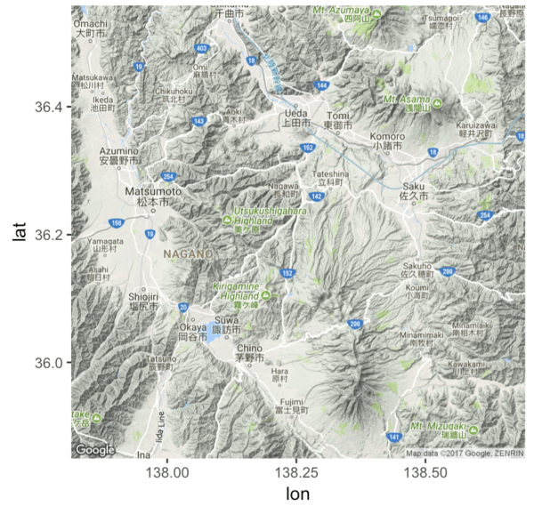 How to plot basic maps with ggmap | R-bloggers Zoomed Out Map Of Vancouver on map of new west, map of martha lake, map of columbia valley, map of surrounding, map of juffair, map of nanoose, map of cape town, map of la ceiba, map of kitakyushu, map of queen charlotte strait, map of fraser lake, map of anchorage, map of darrington, map of walla walla river, map of north saskatchewan, map of toronto, map of cornelius, map of salt spring island, map of north america, map of mont royal,