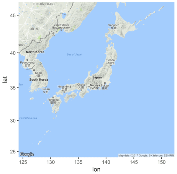 How to plot basic maps with ggmap