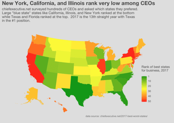 Mapping the best states for business